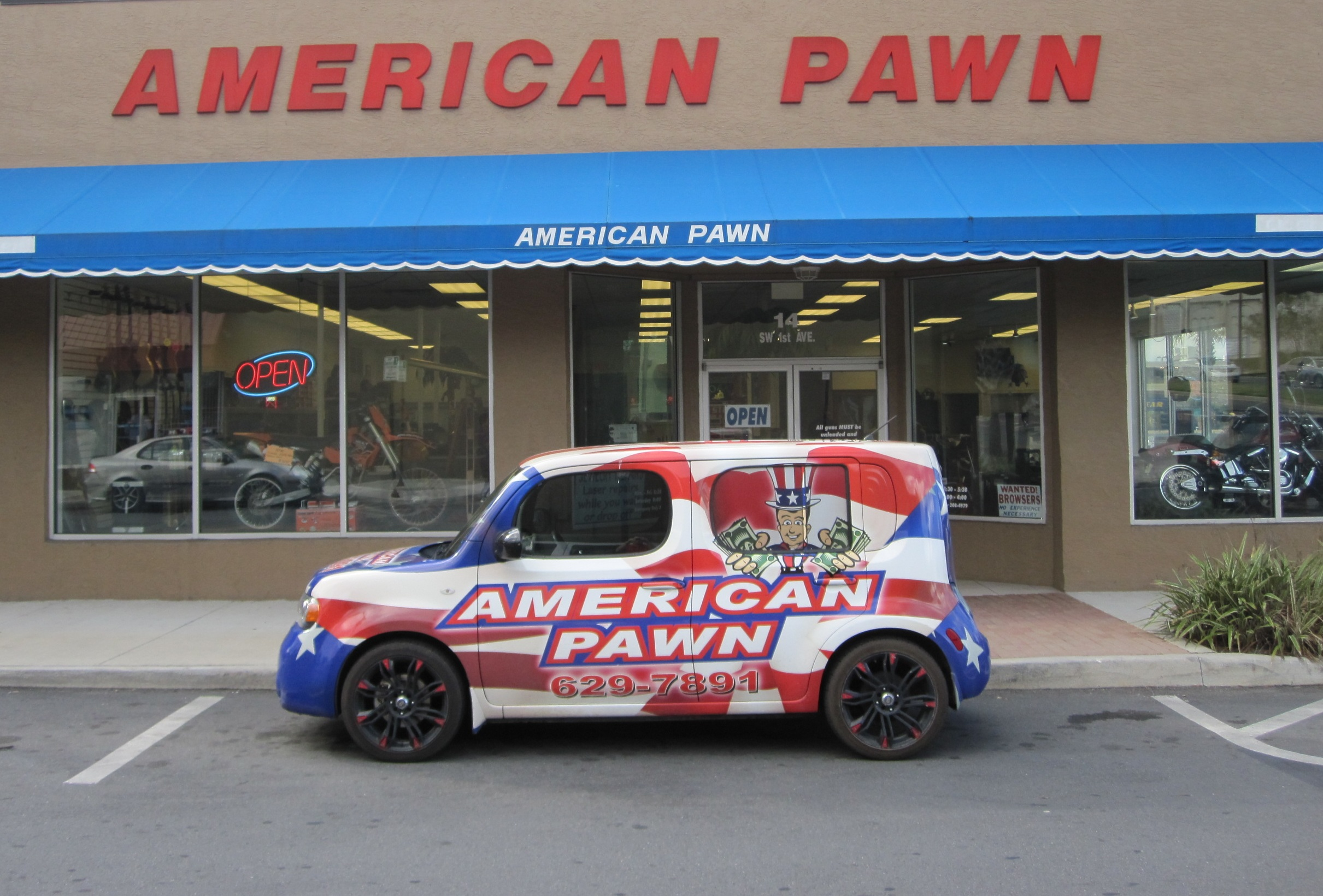 Official Vehicle of American Pawn!