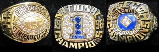 Florida Gator Championship Rings